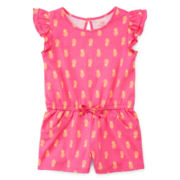 Okie Dokie® Flutter-Sleeve Romper - Girls 2t-5t