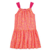 Okie Dokie® Sleeveless Back-Bow Dress – Girls 4-6x