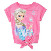 Disney Frozen Short-Sleeve High-Low Top - Girls 7-16