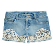 Arizona Crochet-Front Shorts - Girls 7-16 and Plus