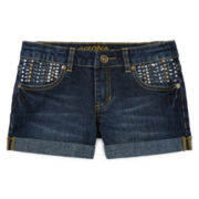 Arizona Rhinestone-Embellished Shorties - Girls 7-16 and Plus