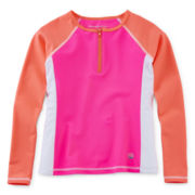 Free Country® Long-Sleeve Rash Guard - Girls 7-16