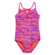 Free Country® 1-pc. Keyhole-Back Swimsuit – Girls 7-16
