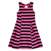 Arizona Sleeveless Back Bow Knit Dress – Girls 7-16