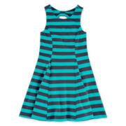 Arizona Sleeveless Back Bow Knit Dress – Girls 7-16