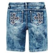 Revolution™ Cross-Embroidered Bermuda Shorts - Girls 7-16 and Plus