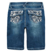 Revolution™ Floral-Embroidered Bermuda Shorts - Girls 7-16
