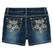 Revolution™ by Revolt Star-Embroidered Shorties – Girls 7-16