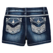 Revolution™by Revolt Butterfly-Embroidered Shorties – Girls 7-16