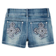Revolution™ by Revolt Cross-Embroidered Shorties – Girls 7-16