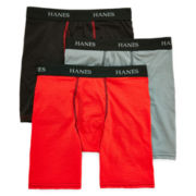 Hanes® 3-pk. Ultimate Long-Leg Boxer Briefs - Boys S-XL