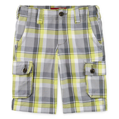 jcpenney.com | Arizona Plaid Cargo Shorts - Boys 8-20, Slim and Husky