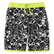 Arizona Black Hibiscus Swim Trunks - Boys 8-20