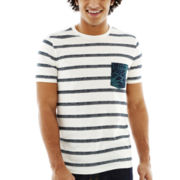 Arizona Printed Stripe Crewneck Tee