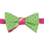 IZOD® Stripe and Dot Reversible Self-Tie Bow Tie