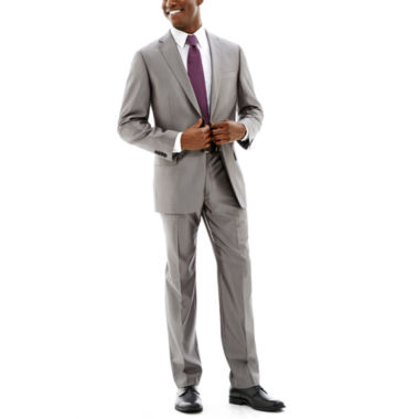 jcpenney.com | Claiborne Grey Shimmer Herringbone Suit-Classic Fit