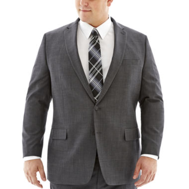 jcpenney.com | Claiborne® Charcoal Herringbone Suit Jacket–Big & Tall
