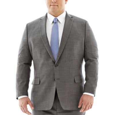 Claiborne® Black & White Nailhead Suit Jacket–Big & Tall