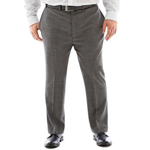 Claiborne® Black & White Nailhead Flat-Front Suit Pants–Big & Tall