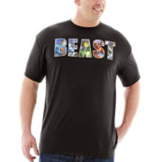 DC Comics® Beast Poly Graphic Tee–Big & Tall