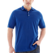 Claiborne® Short-Sleeve Stretch Piqué Polo–Big & Tall