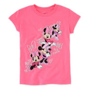 Disney Collection Minnie Mouse Short-Sleeve Tee – Girls 2-10