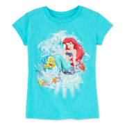 Disney Collection Ariel Short-Sleeve Graphic Tee - Girls 2-10