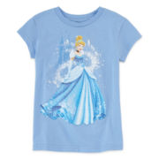 Disney Collection Cinderella Short-Sleeve Graphic Tee – Girls 2-10