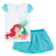 Disney Collection Ariel Top and Skort Set - Girls 2-10