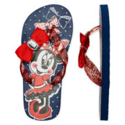 Disney Collection Minnie Mouse Flip Flops – Girls 2-13