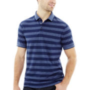Claiborne® Short-Sleeve Striped Piqué Polo