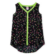 Total Girl® Sleeveless Button-Front Top – Girls 7-16 and Plus