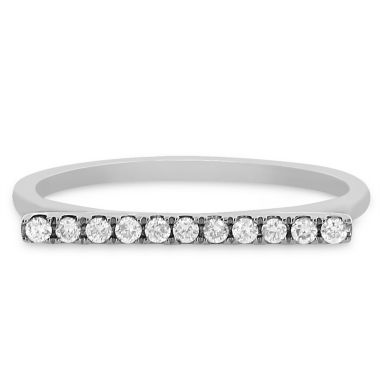 jcpenney.com | Womens 1/8 CT. T.W. Round White Diamond 14K Gold Stackable Ring