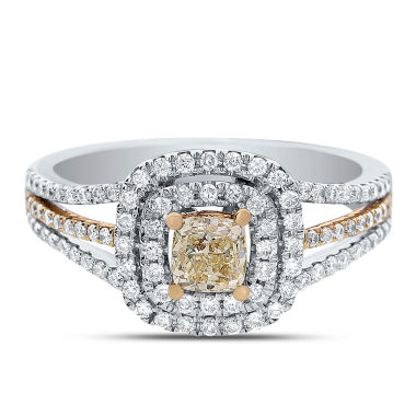 jcpenney.com | Womens 1 CT. T.W. Cushion Yellow Diamond 14K Gold Engagement Ring