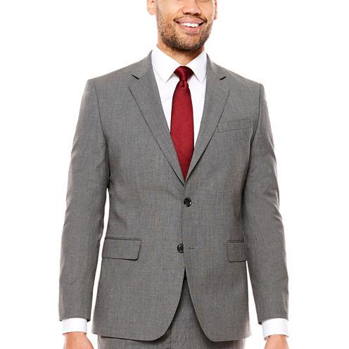 JF Texture Stretch Charcoal Jacket Slim