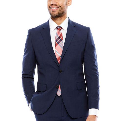 JF Texture Stretch Dark Blue Jacket Slim