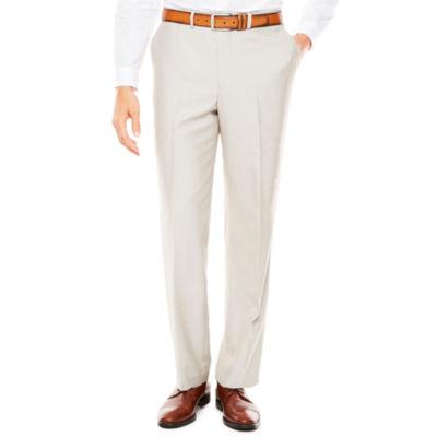 Men's J.Ferrar Bone Shimmer Flat-Front Tapered-Leg Classic Fit Pants