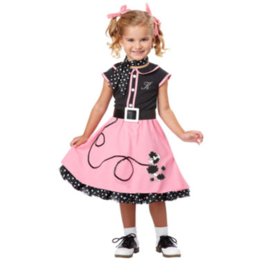 jcpenney.com | Buyseasons 50s Poodle Cutie Toddler Costume 5-pc. Dress Up Costume-Toddler Girls