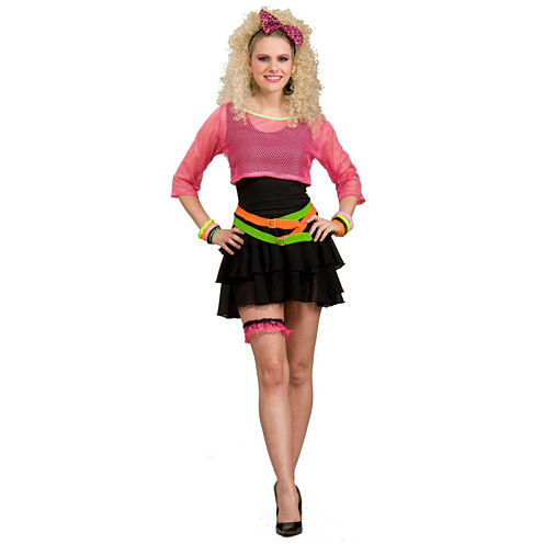 80s Groupie Adult Costume 4-pc. Dress Up CostumeWomens