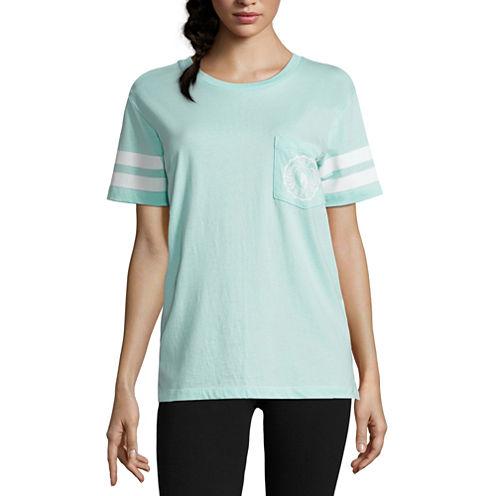 "Flirtitude ""Get real"" Unicorn Graphic T-Shirt- Juniors"