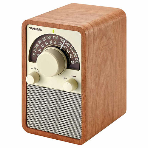 Sangean WR-15WL AM/FM Wooden Cabinet Receiver / Tabletop Radio