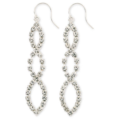 jcpenney.com | Vieste® Crystal Linear Drop Earrings