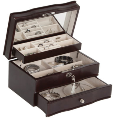 Mele Co Davina Locking Wood Jewelry Box JCPenney