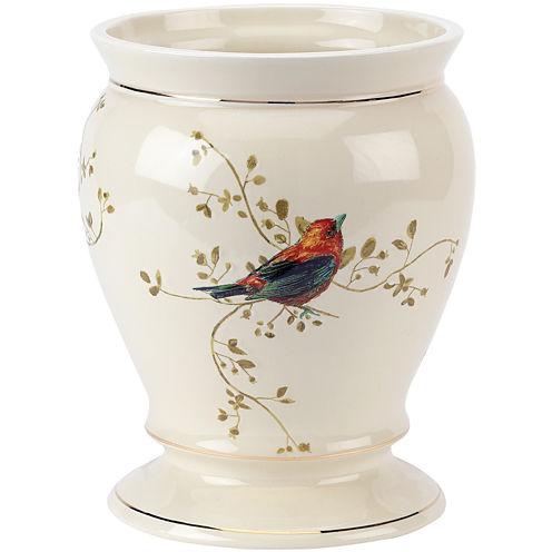 Avanti Gilded Birds Bath Wastebasket