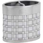 Avanti Basketweave Toothbrush Holder