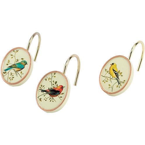Avanti Gilded Birds Shower Curtain Hooks