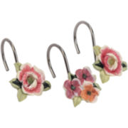 Avanti Rosefan Shower Curtain Hooks