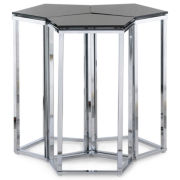 "Dayton Glass Top 20"" Pentagon Side Table"