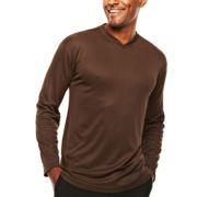 D'Amante Long-Sleeve V-Neck Knit Shirt