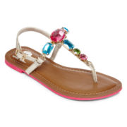 Total Girl® Mystique Stone Girls Sandals - Little Kids/Big Kids